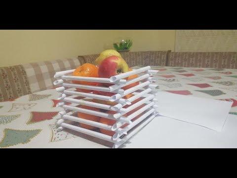 Paper fruit basket - DIY EASY