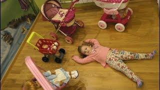 Лиза и Куклы Беби Бон играют в прятки - Веселый день с куклами