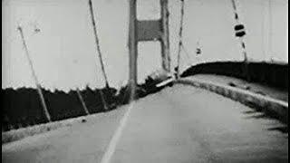 長大吊橋が揺れて崩落 米国のタコマ橋1940