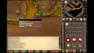 Old School Runescape 2007 Finishing Fairy Tale Part 1 Low level 45 combat Tanglefoot strategy