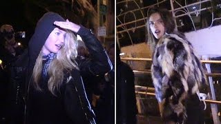 Alessandra Ambrosio And Candice Swanepoel Have Dinner Date At Madeo