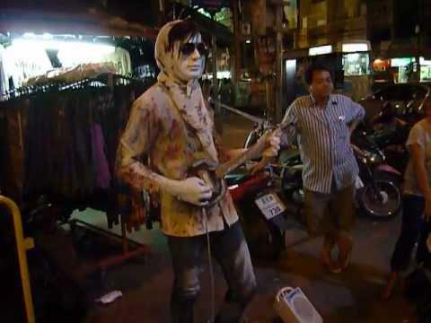 'Spooky' looking guy in Khao Sarn Road, Bangkok