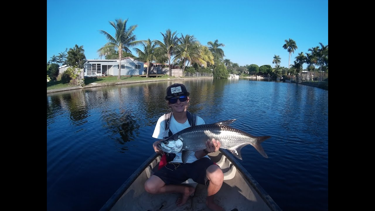 South florida backwater canal tarpon fishing in a canoe for Florida canal fishing