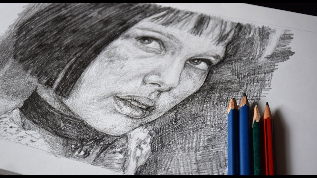 Speed drawing mathilda léon the professional 1994 pencil sketch