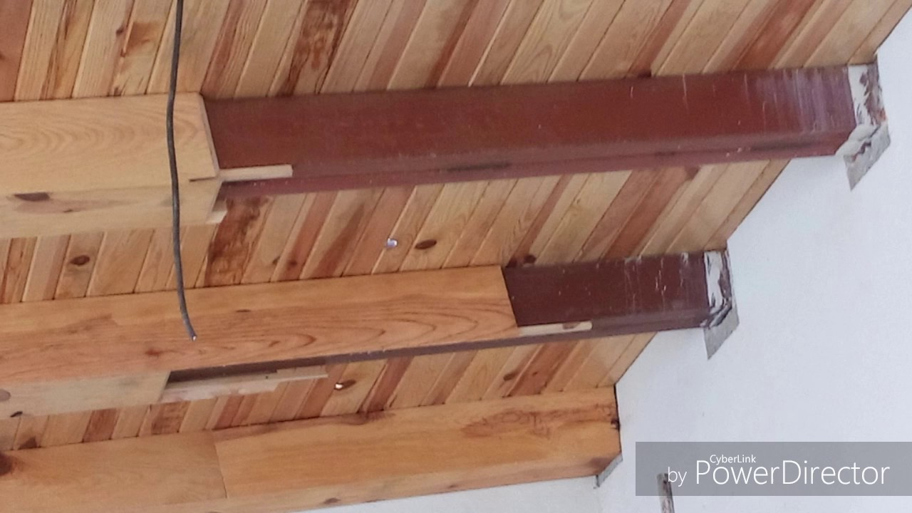 Como construir techo de madera con bigas simuladas youtube for Pared de 15 ladrillo comun