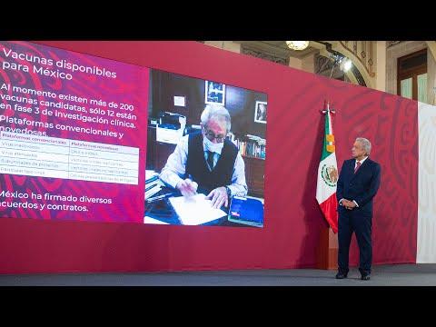 Política Nacional de Vacunación contra COVID-19. Conferencia presidente AMLO