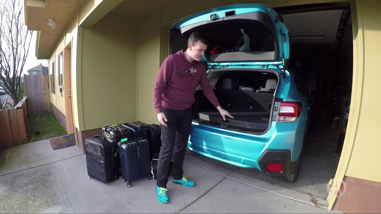 2019 Subaru Crosstrek Hybrid How Much Fits In The Trunk Autotrader Youtube