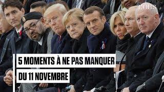 Du pouce de Poutine à Baby Trump, 5 moments incontournables des commémorations du 11 novembre