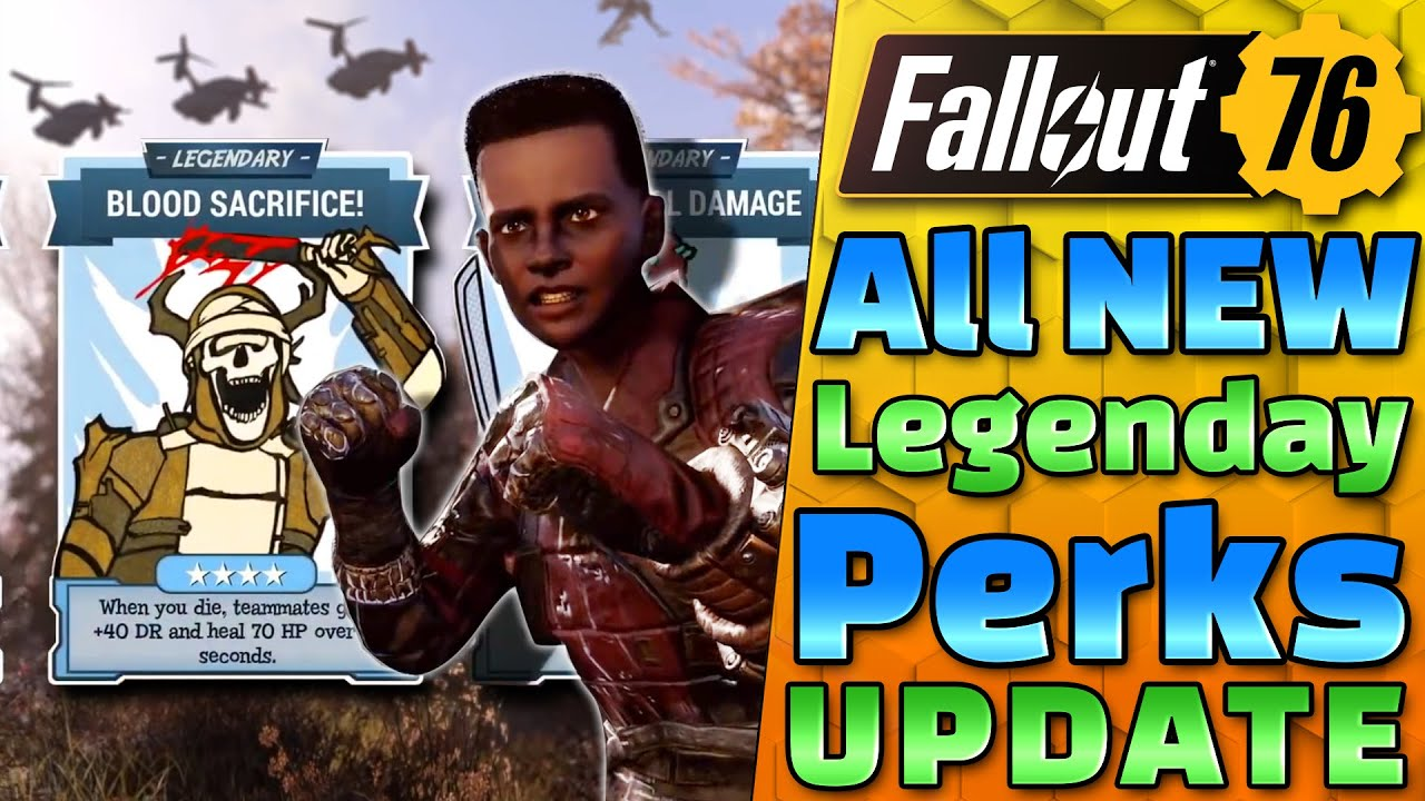New LEGENDARY PERKS are MUCH BETTER!! - PTS Update - Fallout 76 News UPDATE!