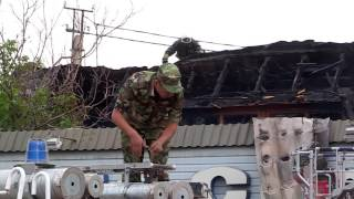 В Шымкенте полностью выгорела сауна (видео)(В Шымкенте дотла сгорела сауна на территории комплекса