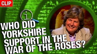 QI | Who Did Yorkshire Support In The War Of The Roses?
