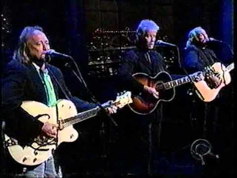 Crosby Stills Nash 'Teach Your Children' Late Show live studio performance