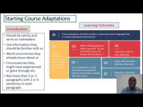 A Quick Guide on Courseware Adaptation for E-Learning Courses