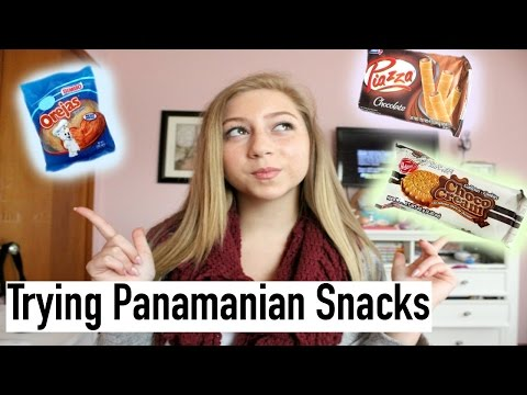 Trying Panamanian Snacks