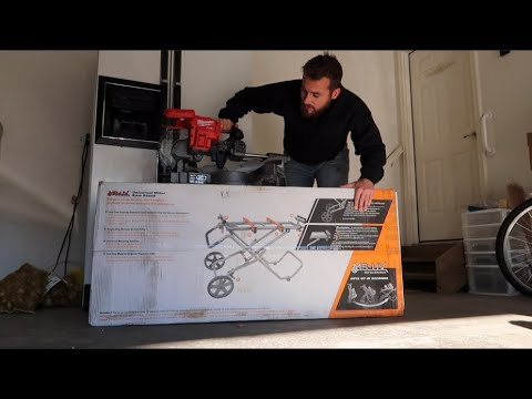 Tool Review Home Depot Ridgid Compound Miter Saw Stand Youtube