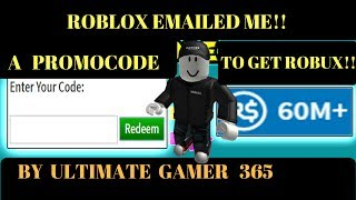 A PROMOCODE THAT GETS US FREE ROBUX!!NO WAITING