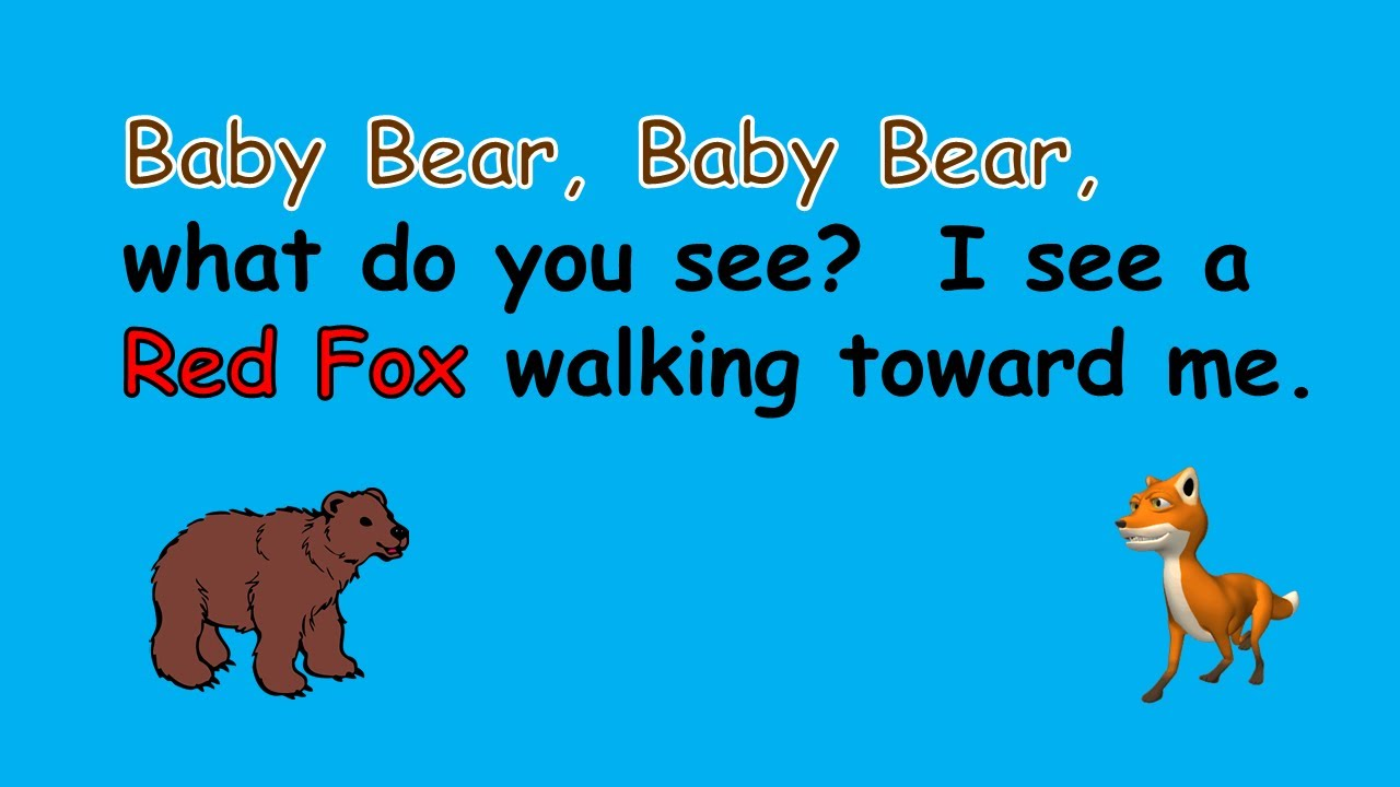 Uncategorized Baby Bear Story baby bear what do you see read aloud story youtube story