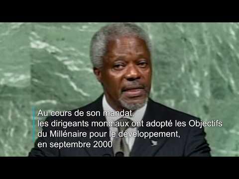 Les Nations Unies pleurent le décès de Kofi Annan
