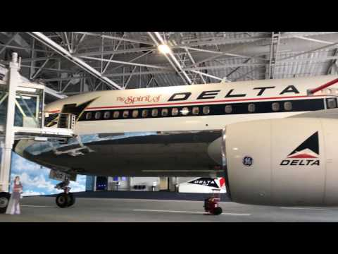 in the jet era hangar with 767 at Delta Flight Museum in Atlanta, Georgia (March 26th, 2017)