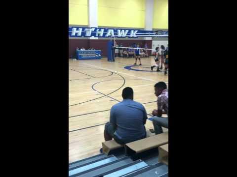 Maywood high school vs jefferson high school volley ball game