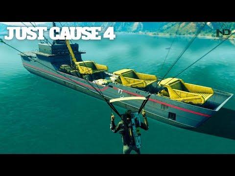 Just Cause 4 #24 - Thử thách dùng phà chở xe to nhất và nặng nhất | ND Gaming thumbnail