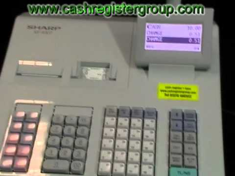Sharp Xe-A307 Cash register - How to operate, do sales and general help instructions.