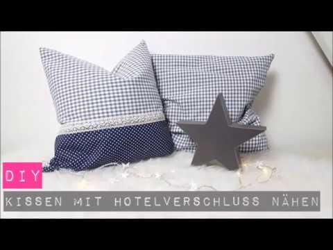 diy kissen mit hotelverschluss n hen n hen f r anf nger diy kajuete youtube. Black Bedroom Furniture Sets. Home Design Ideas