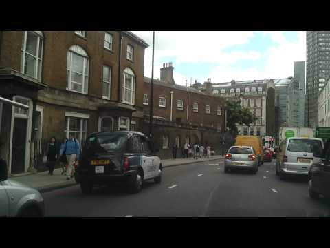 Driving in London - Marble Arch to Vauxhall Park