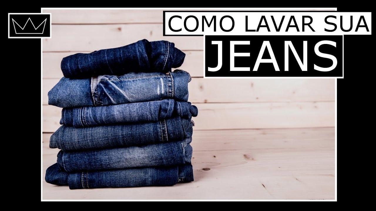 como desencardir calca jeans