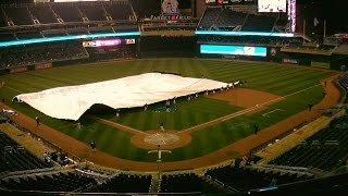 MIL@MIN: Game called due to rain after six innings
