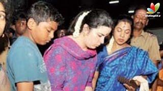 Radhika, SarathKumar pray at Arunachaleswarar Temple | Hot Tamil Cinema News