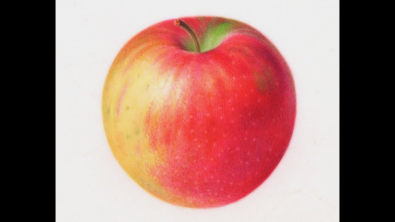 Painting Watercolor Apple
