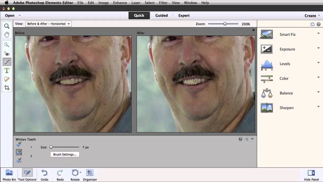 Whiten Teeth In Photoshop Elements 11 Youtube