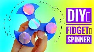 diy cómo hacer un fidget spinner y rodamiento casero juguete antiestrés de moda
