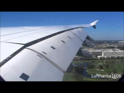 Lufthansa Airbus A380-800 flight from Frankfurt/Main(FRA) to Miami(MIA) airport HD/3D