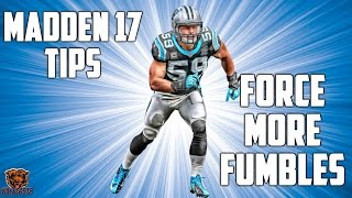 MADDEN 17 DEFENSIVE TIPS: HOW TO TACKLE AND STRIP THE BALL - FORCE MORE FUMBLES!