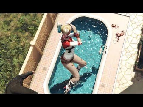 GTA 5 Harley Quinn Funny Ragdolls ep.27