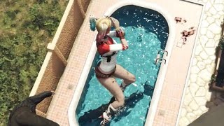 GTA 5 Harley Quinn Ragdolls Jumps/Fails vol.27 [Euphoria physics | Funny Moments]