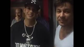 Daddy Yankee con Beto Perez en el studio