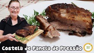 COSTELINHA DE PORCO NA PANELA DE PRESSÃO – COSTELA SUÍNA NA PANELA