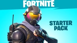 Fortnite Battle Royale - STARTER PACK Review - ROGUE AGENT Skin Gameplay