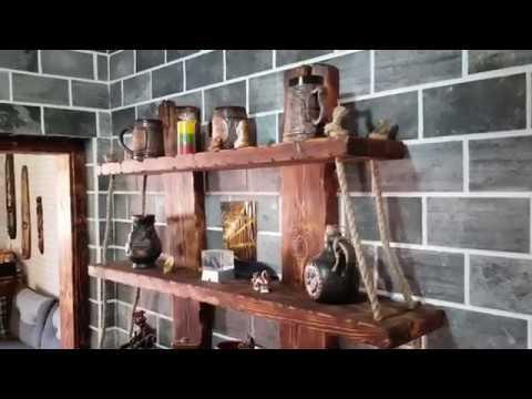 Деревянные полки под старину своими руками