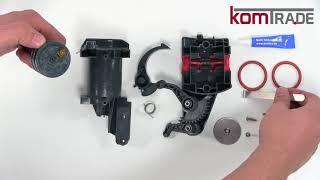 ECAM Brüheinheit/Brühgruppe reparieren-revidieren-überholen Delonghi Ersatzteile Reparaturanleitung