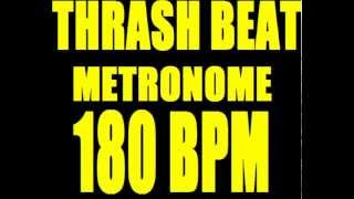 THRASH PUNK BEAT METRONOME 180 BPM LOOP with STOPS Punk