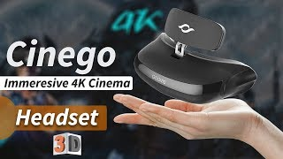 Cinego - An Immersive 4K Cinema Headset | 3D Glasses| Made by Goovis