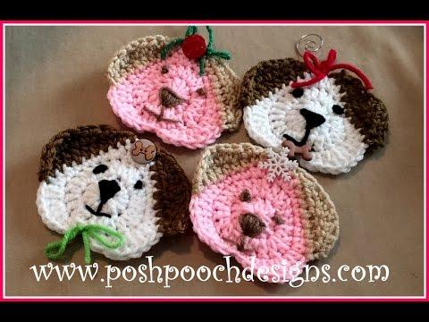I Love My Dog Christmas Ornament Crochet Pattern - YouTube