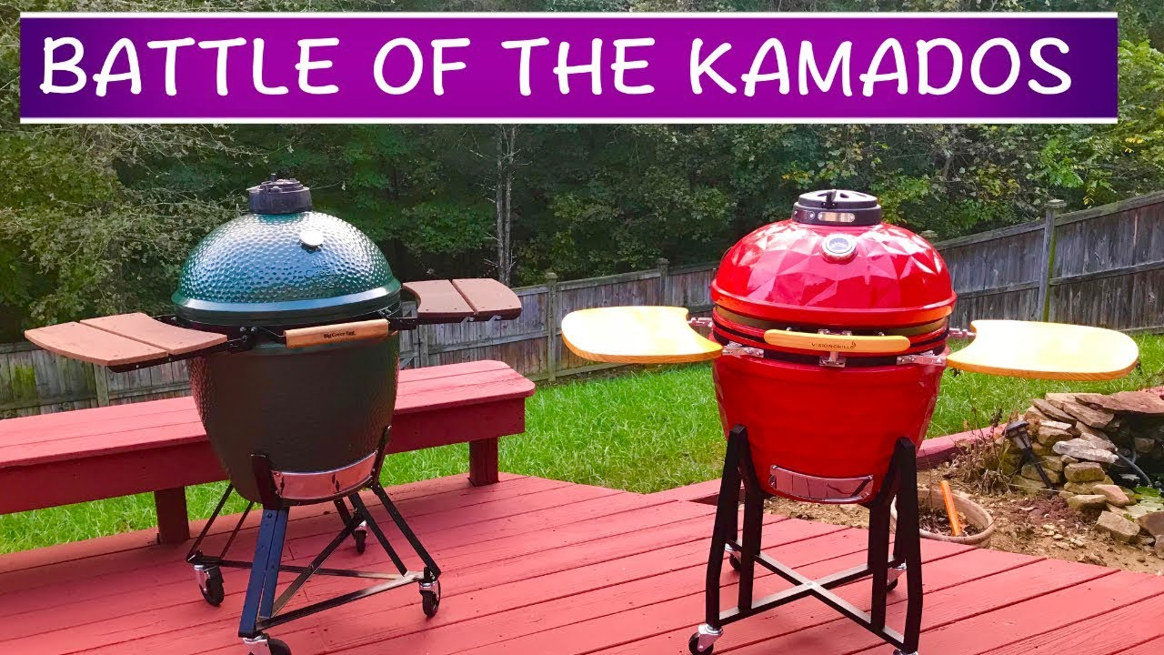 Big Green Egg vs  Vision Grill - BATTLE OF THE KAMADOS