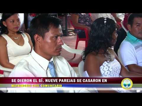 SE DIERON EL SÍ  NUEVE PAREJAS SE CASARON EN MATRIMONIO CIVIL COMUNITARIO