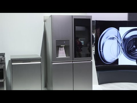 knock on this see through refrigerator door youtube. Black Bedroom Furniture Sets. Home Design Ideas