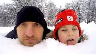 Fun In The Snow Adventures | Tim & Dad Play and Stuck in the Snow | Magic Sleigh Ride On